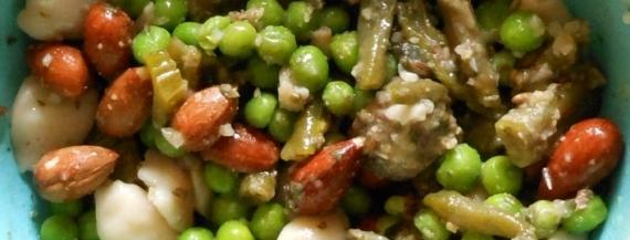Pasta, Lamb, Green Beans & Peas